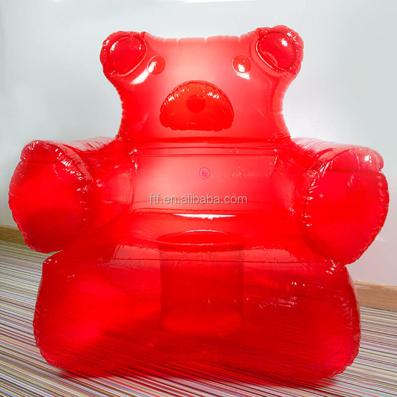 Red Teddy Bear Hug Cartoon Inflatable Furniture,Red Inflatable Sofa Seat Chair