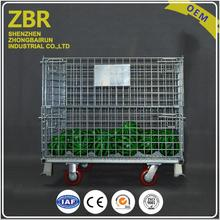 Collapsible Pet Preform Steel Metal Used Wire Pallet Container Boxes