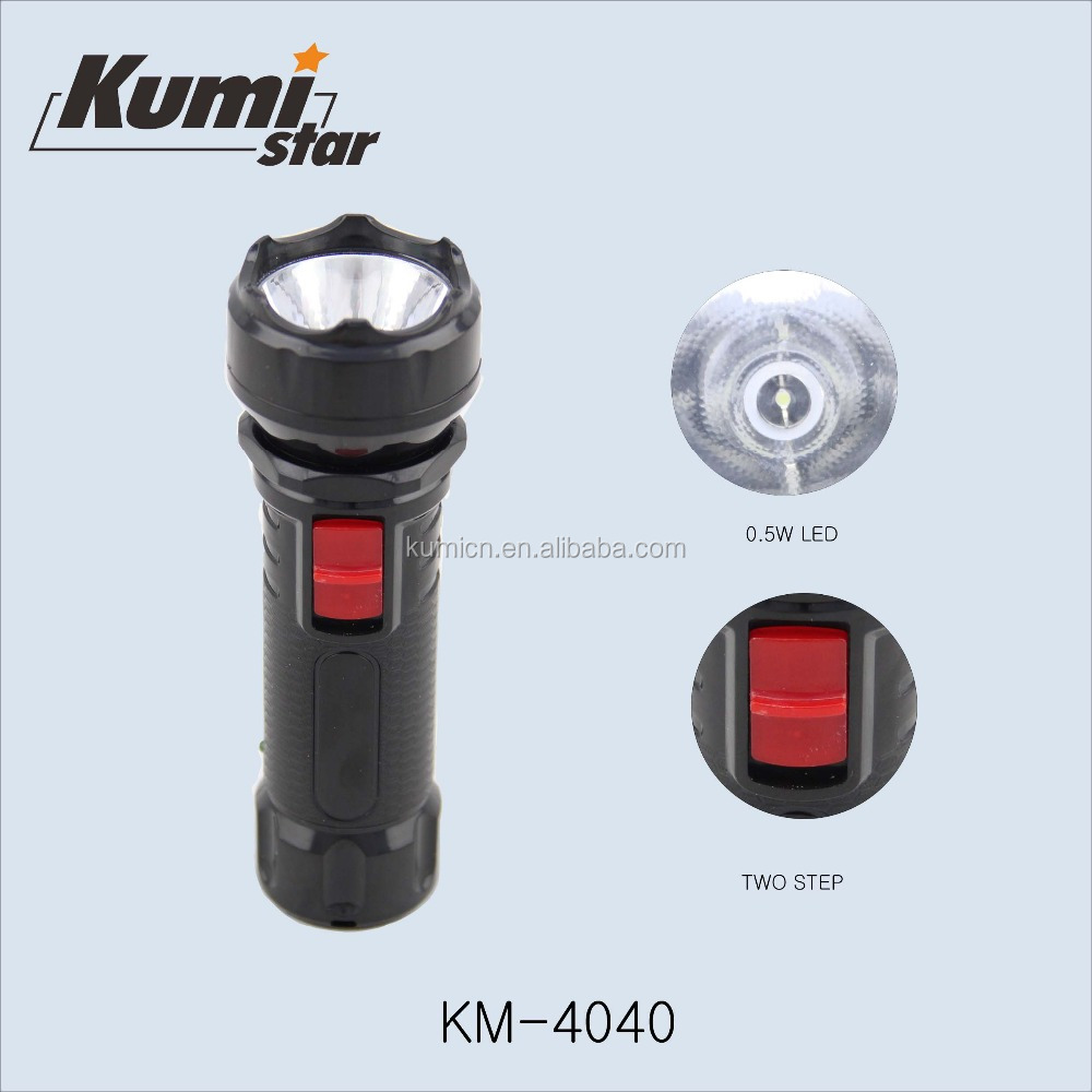 small plastic led rechargeable torch light KM-4040