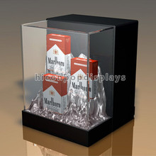 Creative Custom Size Handmade Retail Store Counterop Commercial Acrylic Display Case For Cigarette