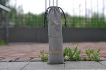 2017 Fasion Grey Long Velvet Pouch Bag Drawstring for Hair Extension, Virgin Hair Packaging or Storage