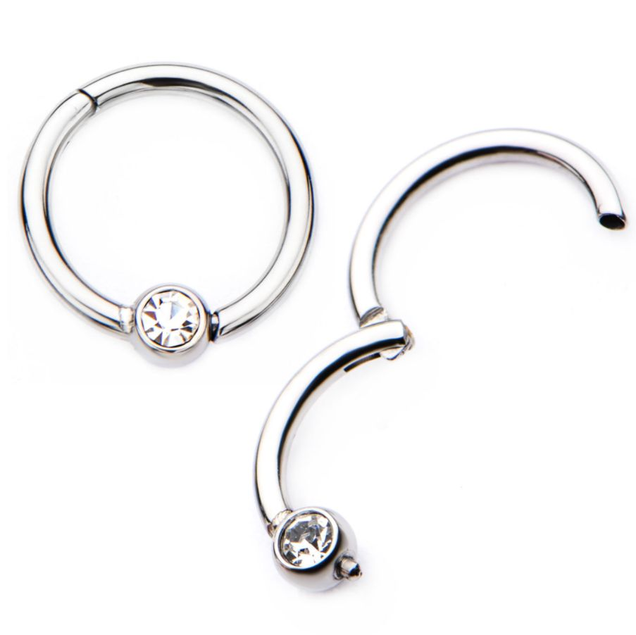 2017 Fashion Crystal Nose Rings Surgical Steel Body Piercing Jewelry Wholesale China