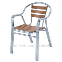 Outdoor wooden aluminum rest patio hanging chairs