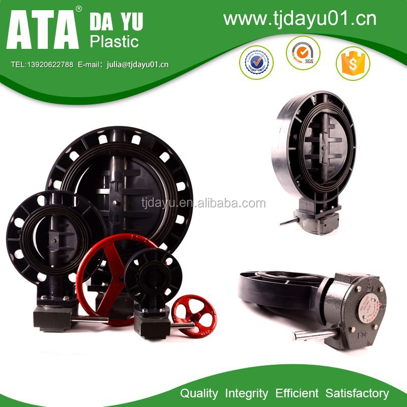 china best factory pipe valves PP/PVC handle manual butterfly valves drawing