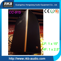 CC-915 2-way design box speaker sound system/professional loudspeaker