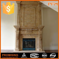 house decorative hand carved countertop fireplace