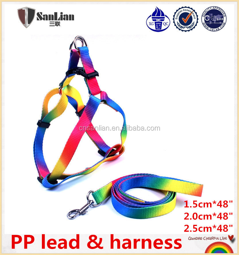 2016 New Pet Dog Training Products Led Dog Harness Collar Leash Nylon Dog Leash And Harness Set
