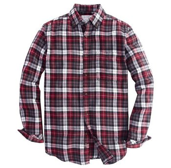 Flannel plaid shirts for men tartan vintage shirts