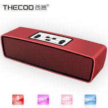 Portable Speaker, Bluetooth Stereo 2 X 3W Enhanced BASS Passive radiator Built in microphone 8 Hour Playtime 2200mAh battery