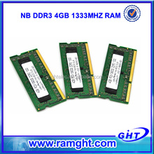 original chipset with lifetime warranty 256mb*8 ram memory laptop ddr3 4gb with full competitable