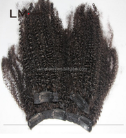 2015 remy human indian hair curly clip in hair extensions free shipping