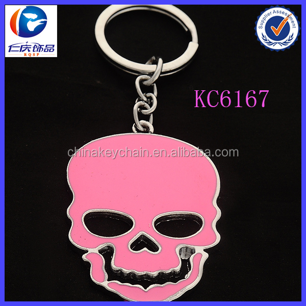 Hot selling American promotioanl gifts cool design metal skull keychain