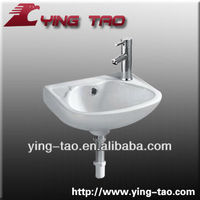 HAIBO CERAMIC CO.,LTD face wash basin china wash hand basin drop in wash sinks Made in China wall hung basin