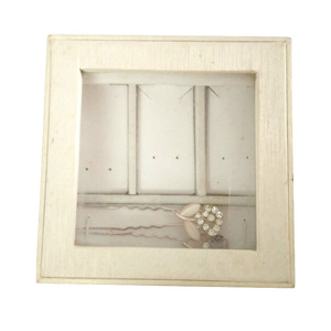 Custom Jewelry Earring Holder Box With Clear PVC Window Free Sample.