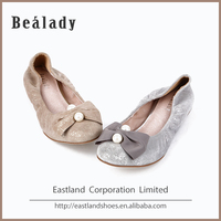 Factory customized soft classic low thick heel 2.5cm cheap italian ballerinas women shoes