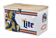 25L large capacity aluminum beer cooler with wood cover