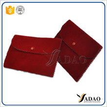 Multiple choice wholesale bespoke garanteed quality velvet pouch for gift or jewellery packaging from Yadao