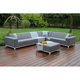 New Style Aluminum weaving Outdoor Garden Furniture Rattan Sofa Set
