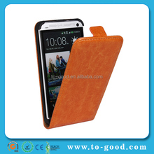 Alibaba Express New Product Flip Waterproof Leather Cover Case For HTC ONE M7 (Khaki)