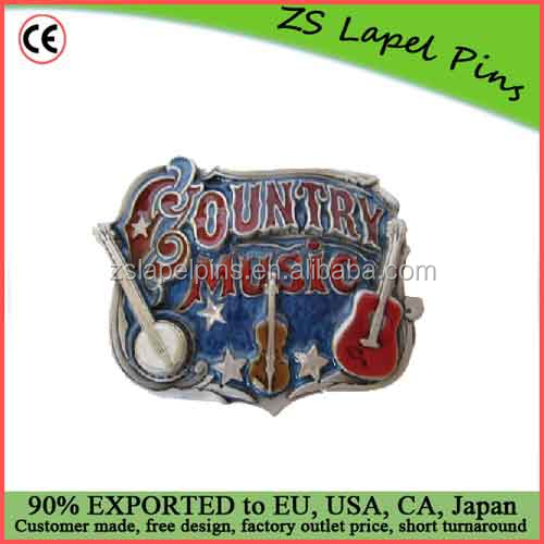 Free artwork design quality personalized Country Music Belt Buckle