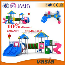 outdoor playground slide, Fashion Design Plastic Amusement Park Set For Kids, play station