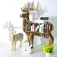 Animal shape Wood Deer Coffee Table iW-WD001