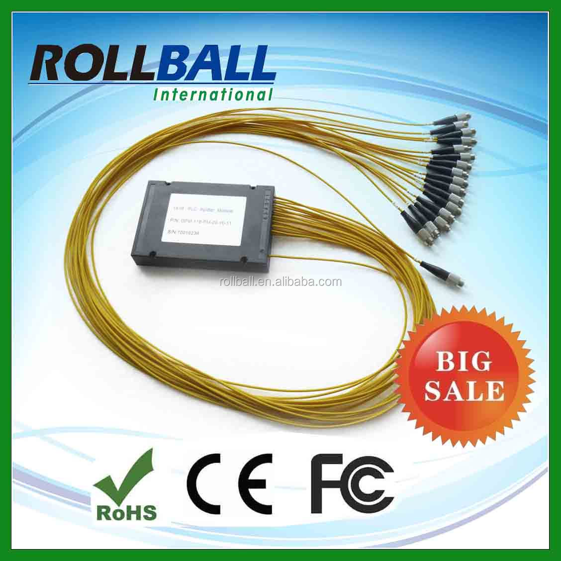Compact design SC/PC 0.9mm 1x8 plc splitter