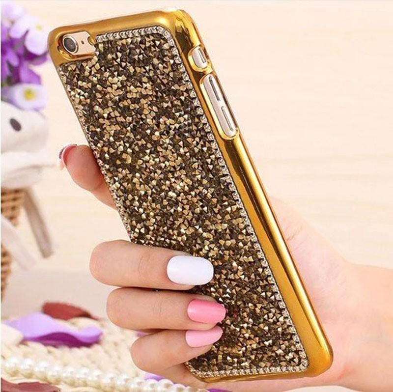 Diamond Bling Glitter phone case for iPhone 7 Plastic hard bumper case mobile accessories for iPhone 7 plus