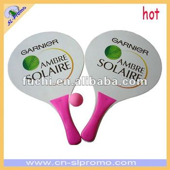 Promotional Wooden Beach Racket with Sedex Audit for wholesell