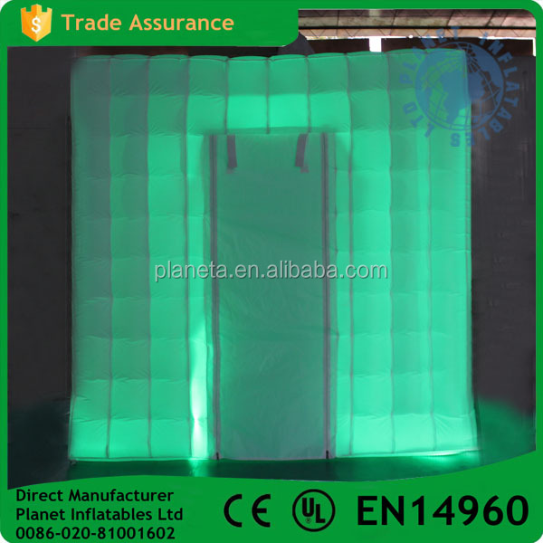 White Cube Tent Inflatable Led Photo Booth For Sale