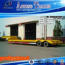 Used 50 Tons Low Bed Semi Trailer Dimensions Optional For Philippine