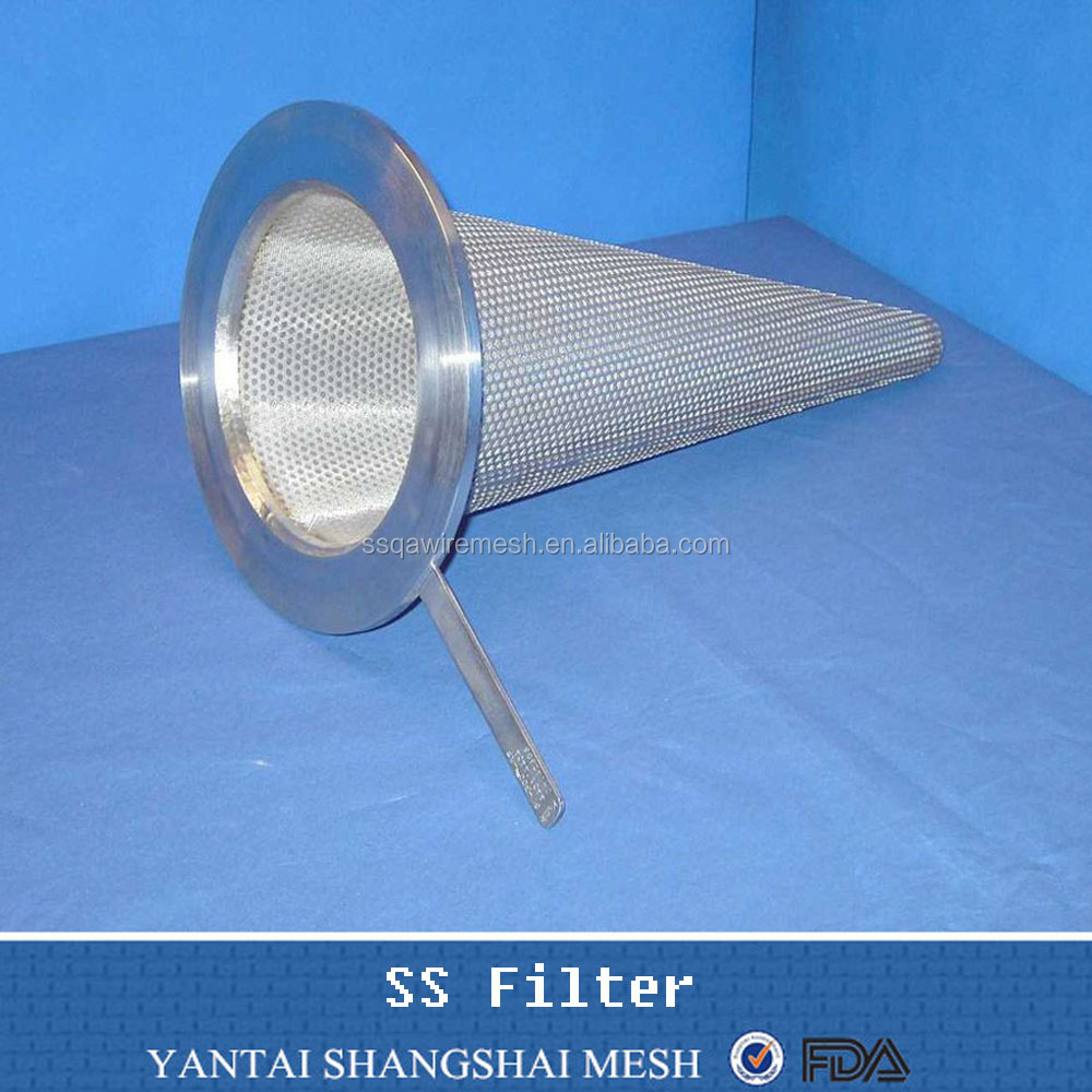 2016 stainless steel conical filter strainers