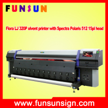 Flora LJ 320P low price outdoor solvent printer with Spectra Polaris 512 15pl head