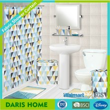 Waterproof Bathroom Curtain, Polyester Shower Curtain Fabric Printing Mildew Resistant