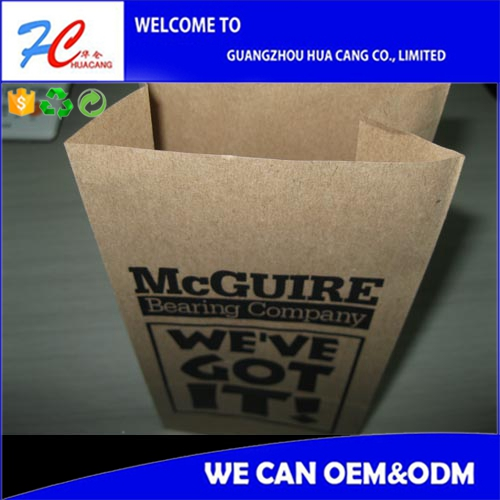laminated food grade side gusset brown paper kraft paper bag