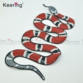 Fashional Cool Big size Personalized Snake Embroidery Patches for StreetwearWEF-110