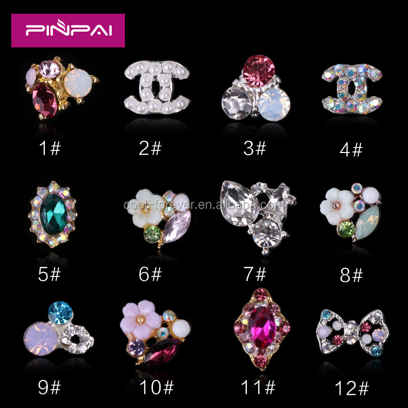 2016 new Nail Rhinestone Alloy Flower 3D Nail Art Decoration Glitter Tips DIY For Nail Art Designs pictures