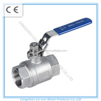 2'' Stainless Steel 304 Light Duty 2PC ball valve 1000PSI/PN63