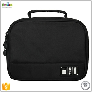 Justop OEM Travel Accessories Customized Nylon Electronic Organizer