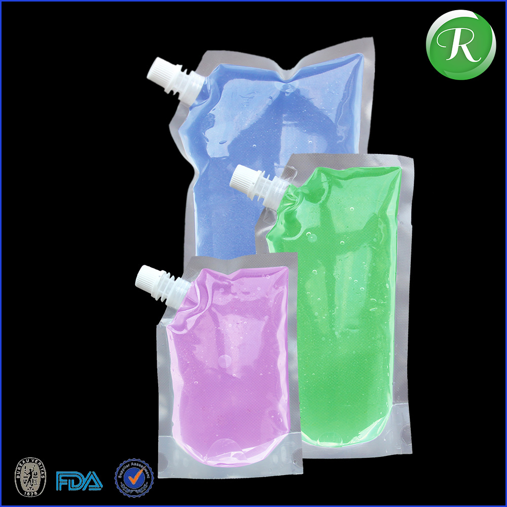 drink resealable pouch with spout packaging, reusable food liquid spout pouch, fruit juice plasticpouches spout