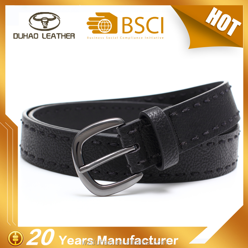 Concise fashion black femal chastity leather belt for women lady