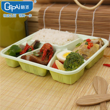 5 compartment container disposable plastic take away bento box