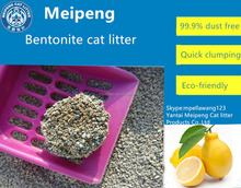 Pine/lemon/apple/lavender/orange/rose/honey fragrance Bentonite Cat Litter