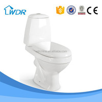 Two Piece Ceramic sanitary ware P TRAP Chinese types of toilet bowl