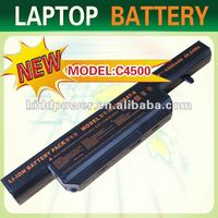 High quality laptop battery replacement for Clevo C4500 Series C4500BAT-6