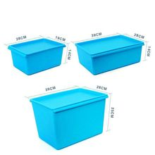 Opaque candy color set plastic storage box storage container