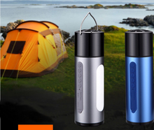 OUTDOOR BLUETOOTH SPEAKER WITH LED CAMPING LANTERN WATERPROOF BLUETOOTH STEREO VIBRATION SPEAKER
