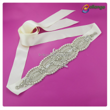Best selling decorative rhinestone trim bridal crystal rhinestone sashes wedding dress belts