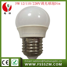 Cheap price E27 B22 12V 24V 110V 220V G45 3W Mini Dimmable led lights bulb