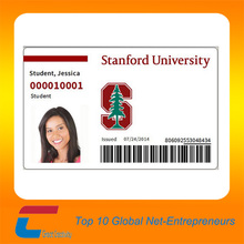 Inkjet printable pvc id card with picture, id card with photo